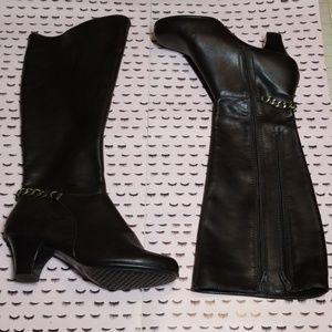 Aerosoles Vegan Knee High Brown Boots size 7.5